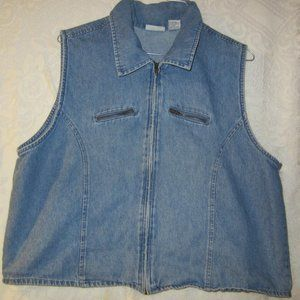 Vintage denim vest size large